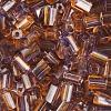 Tiny Flats 5X3.5mm Two-Tone Lilac/Light Brown